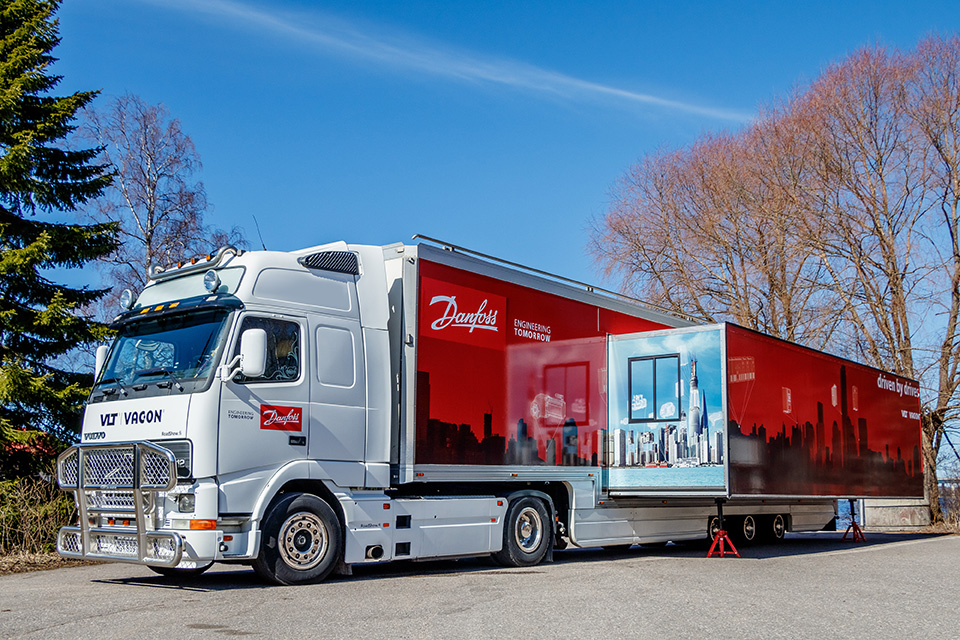 The New Danfoss Drives Truck Hits The Road Coming To A